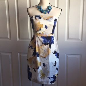 J. Crew Strapless Dress in Floral